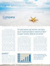 Nature & Environment: Starfish Newsletter Template #03456