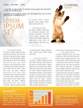 Agriculture and Animals: Kitten Newsletter Template #03459
