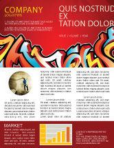 Art & Entertainment: Graffiti Newsletter Template #03484