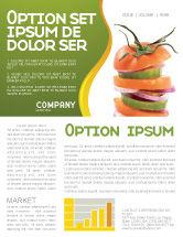 Food & Beverage: Fresh Vegetables Newsletter Template #03490