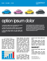 Cars/Transportation: Minicars Newsletter Template #03491