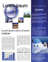 Flags/International: European Union Sign Newsletter Template #03499