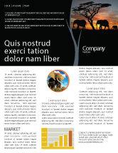 Nature & Environment: Savanna Newsletter Template #03506