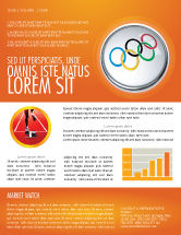 Sports: Olympic Symbol Newsletter Template #03512