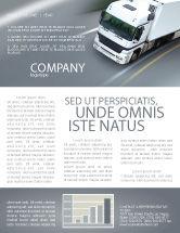 Cars/Transportation: Freight Service Newsletter Template #03527