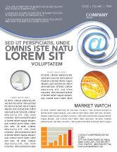 Technology, Science & Computers: Modèle de Newsletter de communication moderne par courrier électronique #03532