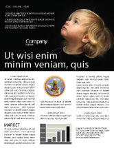 People: Child Listens Newsletter Template #03553