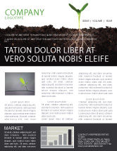 Nature & Environment: Life Sprouts Newsletter Template #03562