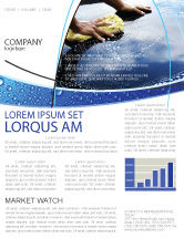 Careers/Industry: Car Wash Newsletter Template #03576