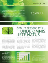 Abstract/Textures: Green Flowers Newsletter Template #03594