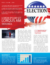America: USA Elections Newsletter Template #03595