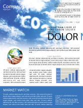 Nature & Environment: Carbonic Acid Newsletter Template #03601