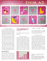 Education & Training: Baby's Room Theme Newsletter Template #03622