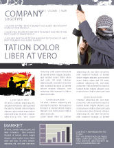 Military: Terrorist Newsletter Template #03632