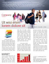 People: Secondary Schoolboy Newsletter Template #03662
