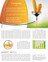 Careers/Industry: Corn Oil Newsletter Template #03664