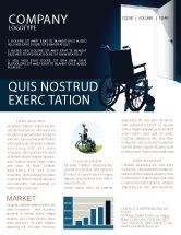 Medical: Wheelchair Newsletter Template #03665