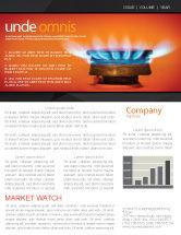 Careers/Industry: Modèle de Newsletter de poêle à gaz #03675
