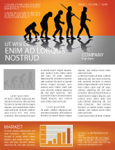 Education & Training: Human Evolution Newsletter Template #03694