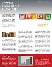 Education & Training: Teaching Newsletter Template #03696