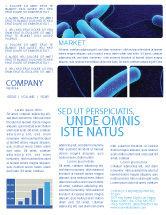 Medical: Modèle de Newsletter de bactériologie #03702