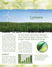 Nature & Environment: Wind Mills Newsletter Template #03715