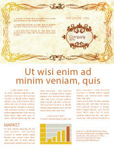 Abstract/Textures: Fanciful Frame Newsletter Template #03746