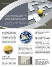 Business Concepts: Yellow Ball Newsletter Template #03747