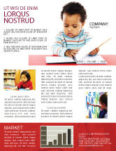 Education & Training: Kid Learning Newsletter Template #03759