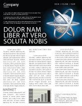 3D: Atom Model Newsletter Template #03763