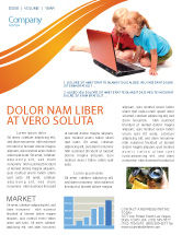 Education & Training: Long Distance Computer Education Newsletter Template #03793