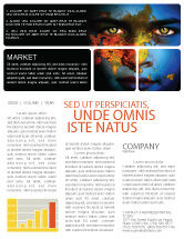 Nature & Environment: Eyes of Earth Newsletter Template #03807