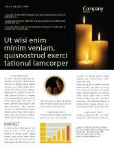 Religious/Spiritual: Modèle de Newsletter de bougies #03822