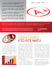 Education & Training: Excellent Grade Newsletter Template #03851