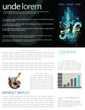 Art & Entertainment: Night City Life Newsletter Template #03856