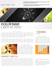 Business Concepts: Brilliant Idea Newsletter Template #03860