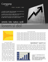 Financial/Accounting: Economy Rise Newsletter Template #03866