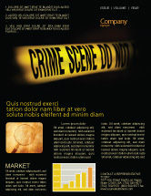 Legal: Crime Scene Newsletter Template #03883