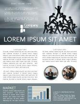 Business Concepts: Modèle de Newsletter de victoire d'équipe #03885