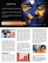 Education & Training: Childrens Of the World Newsletter Template #03901
