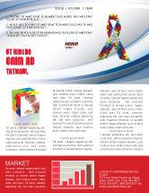 Religious/Spiritual: Autism Awareness Ribbon Newsletter Template #03914