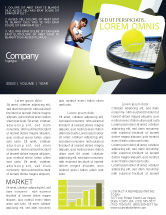 Sports: Tennis Ball Newsletter Template #03918