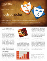 Art & Entertainment: Drama Newsletter Template #03957