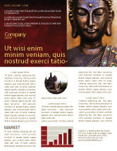 Religious/Spiritual: Buddha In Meditation Newsletter Template #03973
