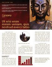 Religious/Spiritual: Modèle de Newsletter de bouddha en méditation #03973