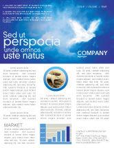 Religious/Spiritual: Peace Dove Newsletter Template #03984