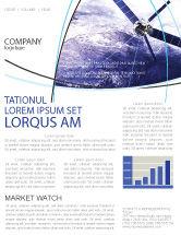 Telecommunication: Kommunikationssatellit Newsletter Vorlage #03994