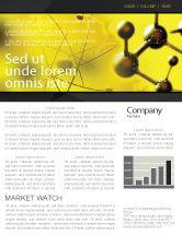 Abstract/Textures: Modèle de Newsletter de réseau moléculaire en couleurs jaune foncé #04002