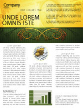 Financial/Accounting: Dollar In Yellow Newsletter Template #04022