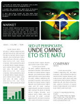 Flags/International: Face Of Brazil Newsletter Template #04059